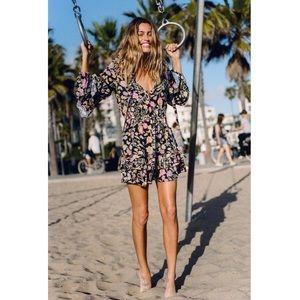 NWT Spell Sayulita Frill Mini Dress
